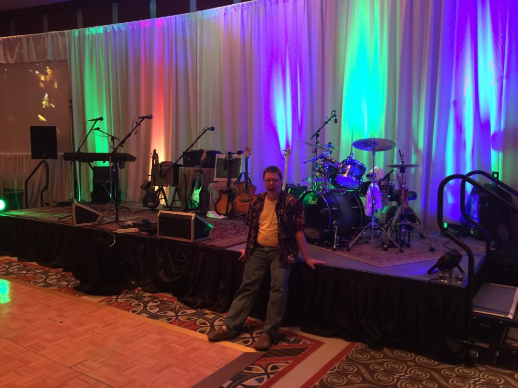 EDW 2017 Held In The Grand Ballroom At The Omni Atlanta - Just Prior To The Show Starting, Peter Is Lounging After Setup...