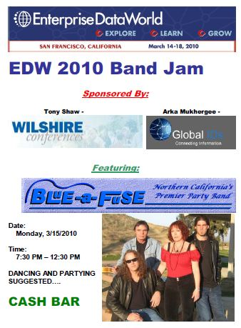 This Flyer Was Distributed To Attendees At The Enterprise Data World Conference 2012 Held At The Hilton San Fran Ballroom.