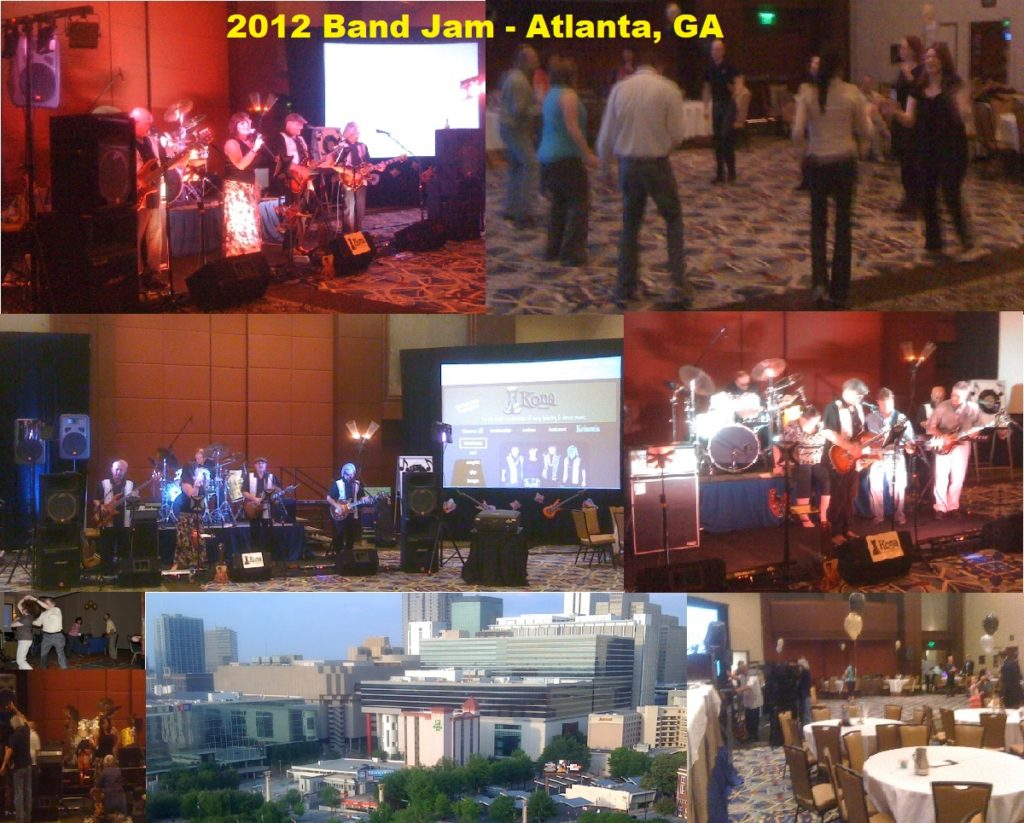 2012 Band Jam Collage - Omni Convention Hall in CNN Center, Atlanta, GA at Enterprise Data World!