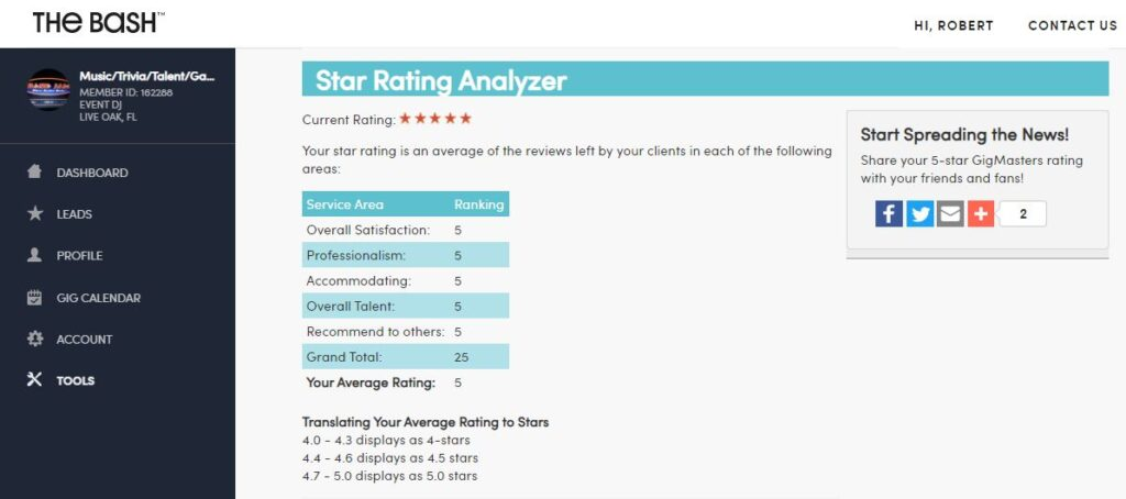 We provide 5 star services to our customers!
