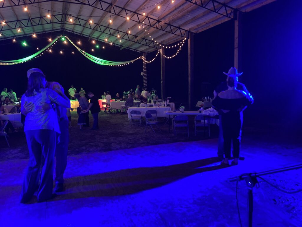 Our music and light show made this wedding night a dance!
