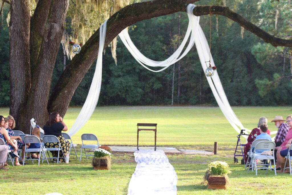 What a perfect location for a wedding!