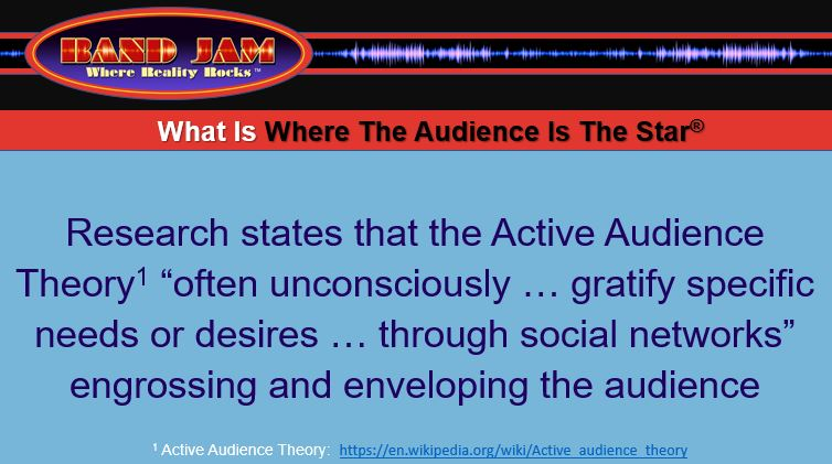 Active Audience Engagement Theory Is Why The Where Reality Rocks(r) Show Is So Engaging